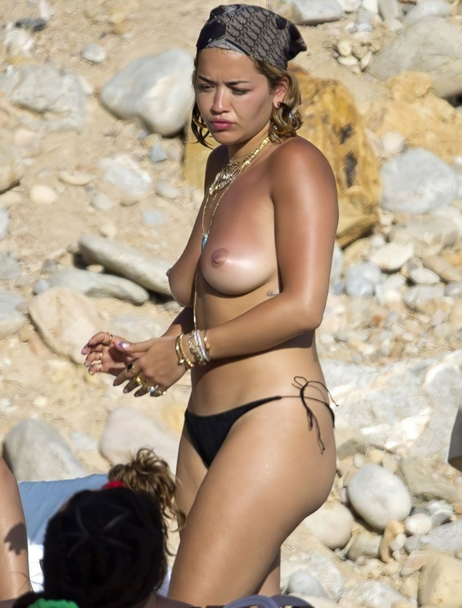 Rita Ora Topless Nude Beach Candid Pics