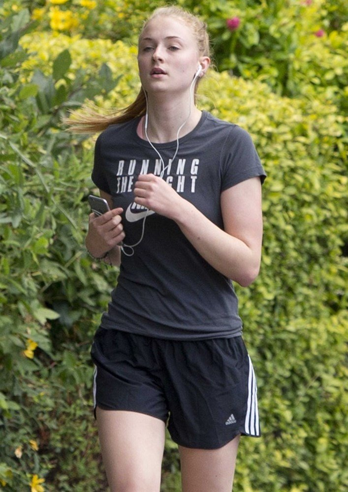 Sophie Turner Out Braless In A See Thru Top