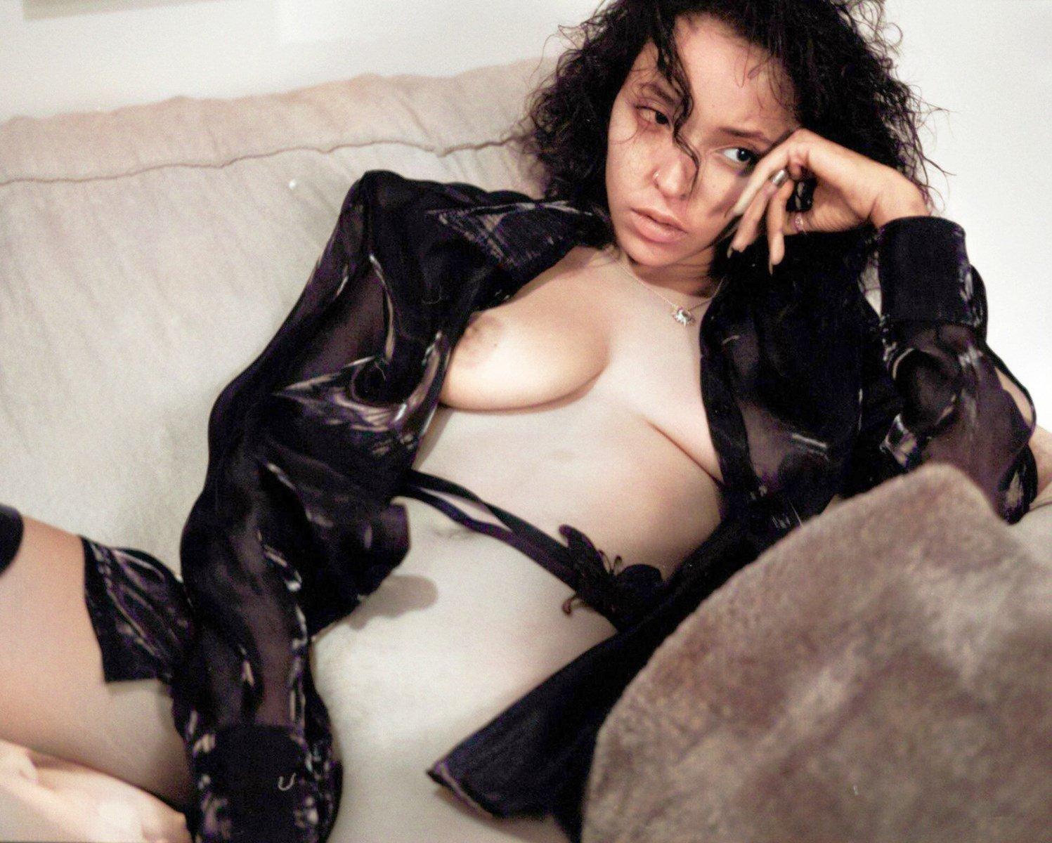 Tinashe Nude Photo Shoot Colorized