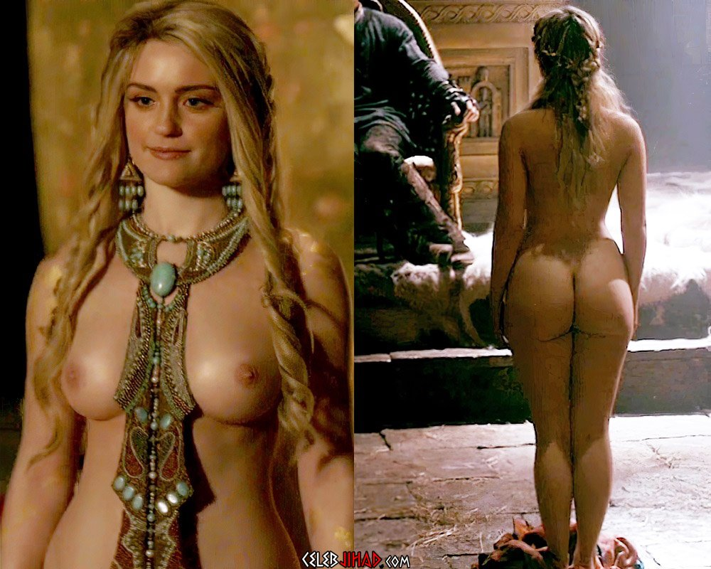 "Alicia Agneson Nude Scene From ""Vikings"""
