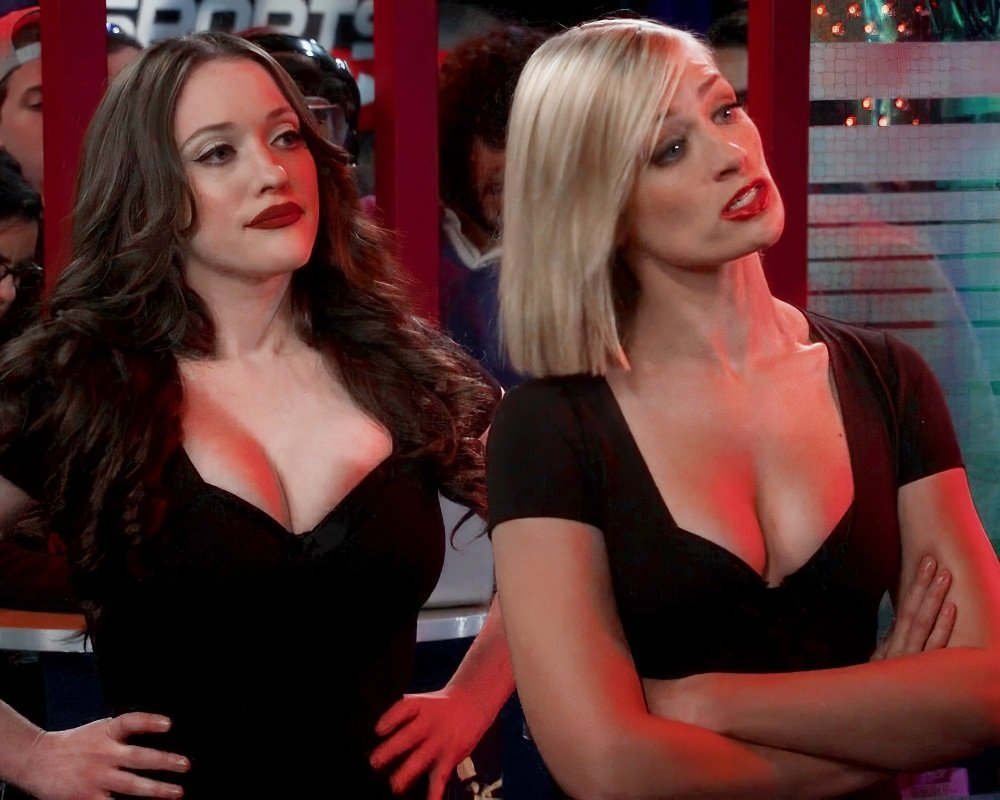 """Kat Dennings And Beth Behrs Nude Sex Outtake From """"2 Broke Girls"""""""