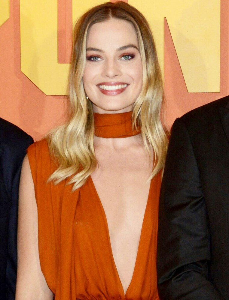Margot Robbie Nipple Ring Slip
