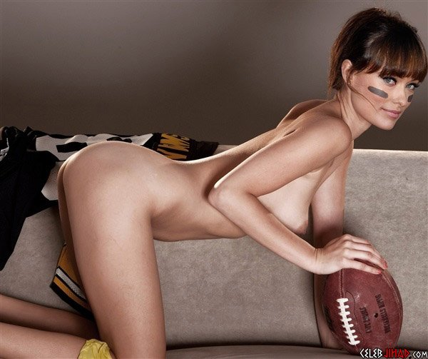 Olivia Wilde Gets Naked For The NFL Draft