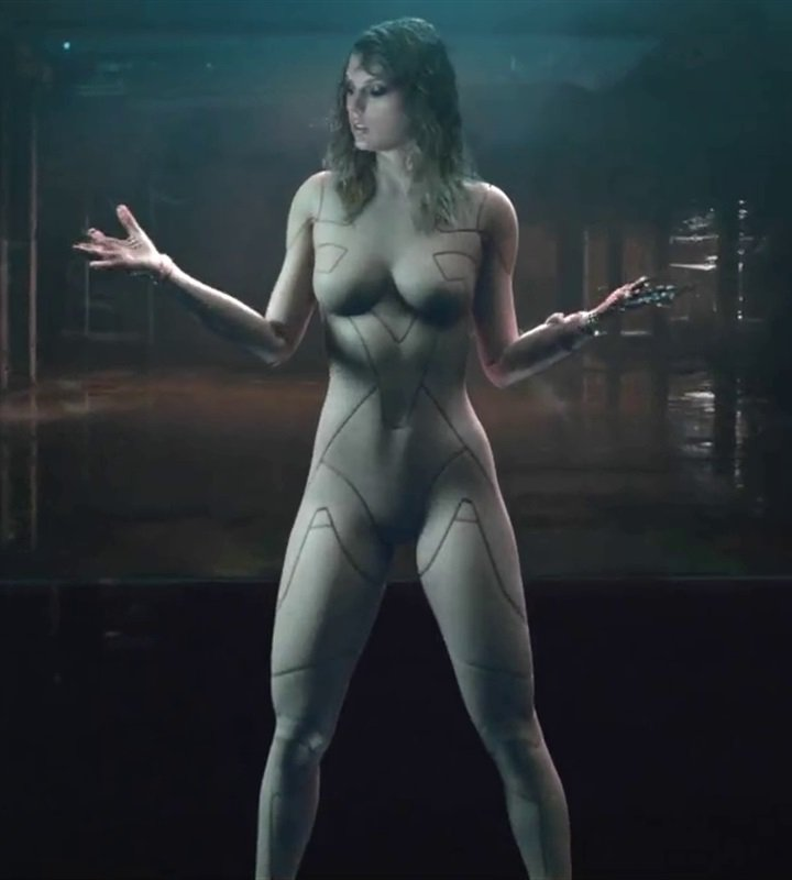 Taylor Swift In A Skin Tight Nude Bodysuit