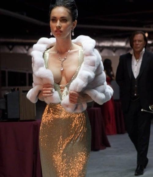 Megan Fox Shows Deep Cleavage