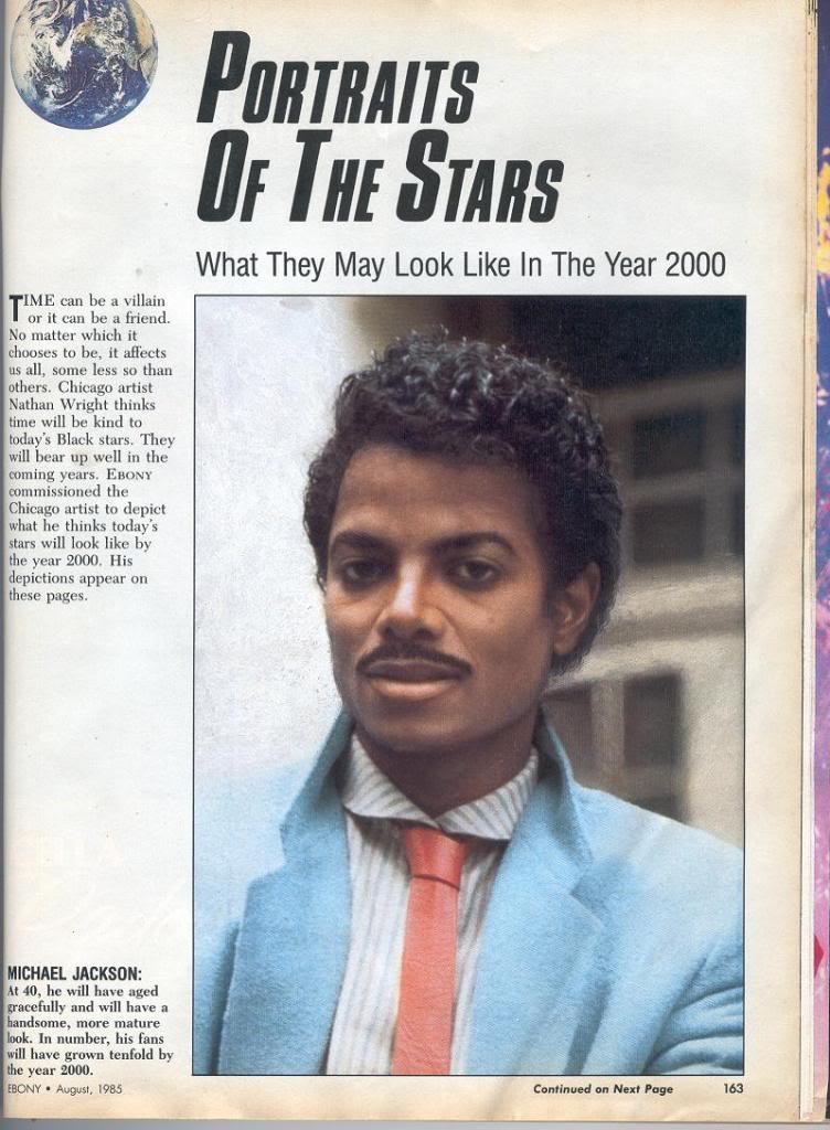 Michael Jackson will look like Lando Calrissian in the year 2000