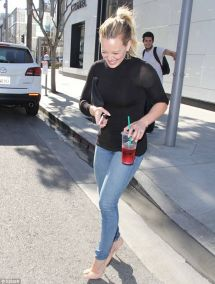 Hilary Duff Street Style - In Beverly Hills