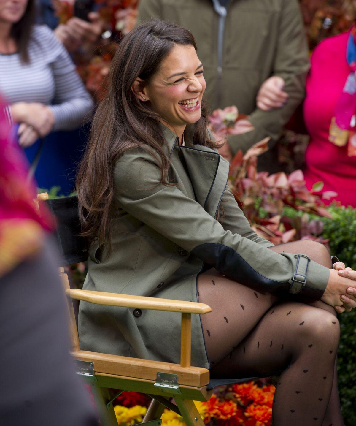 Katie Holmes Legs ABC Studios In New York City