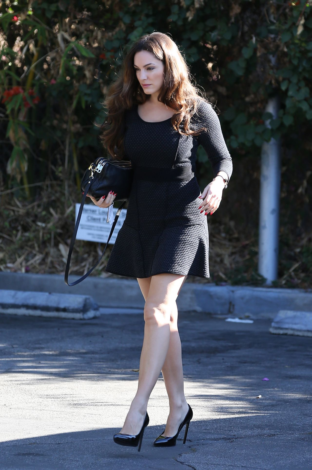 Kelly Brook in a Short Skirt