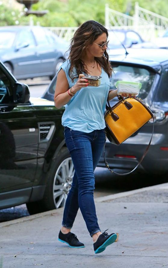 Mila Kunis Street Style  Booty in Jeans Out in Los Angeles