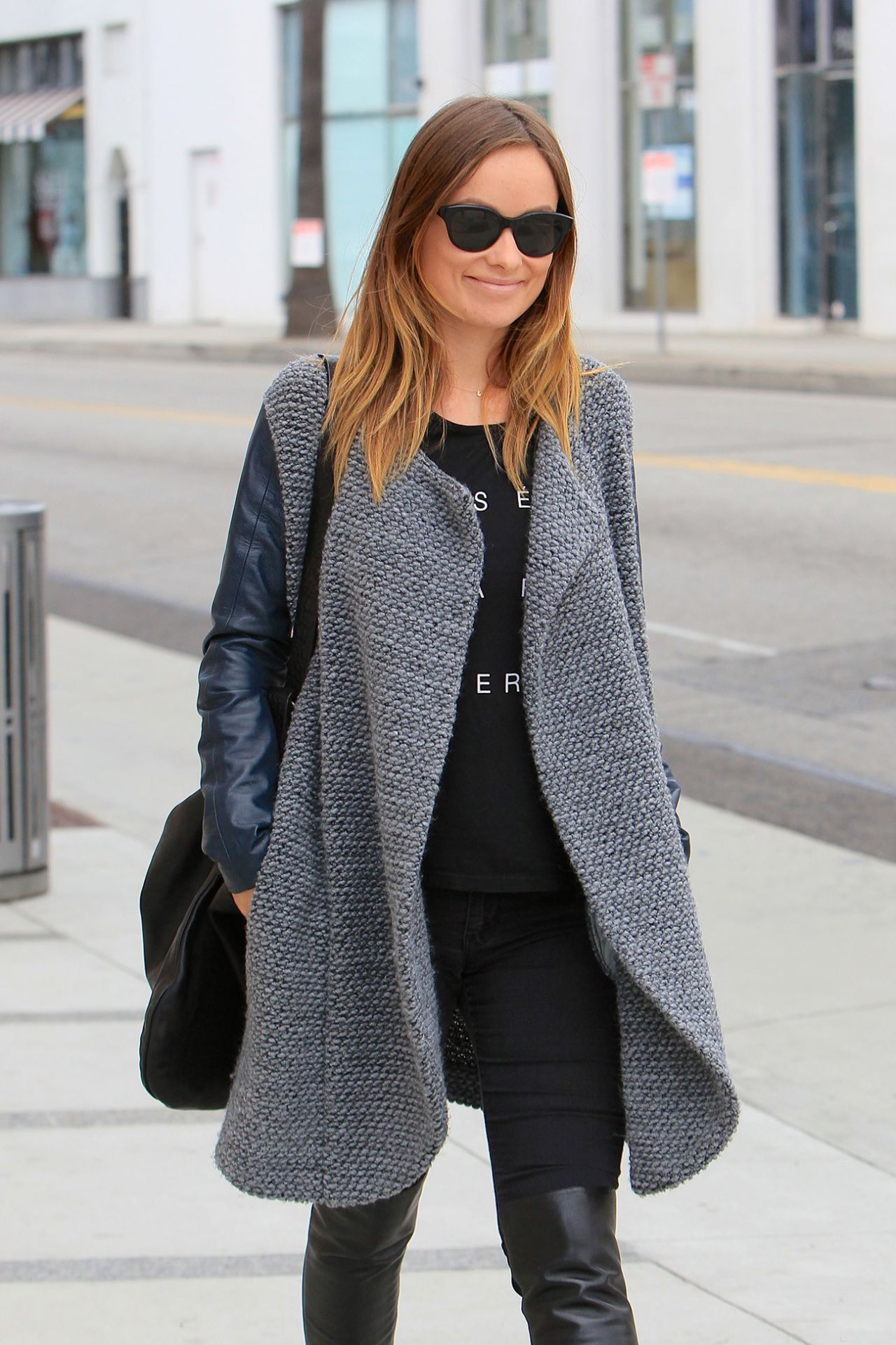 Olivia Wilde Street Style Walking In Beverly Hills