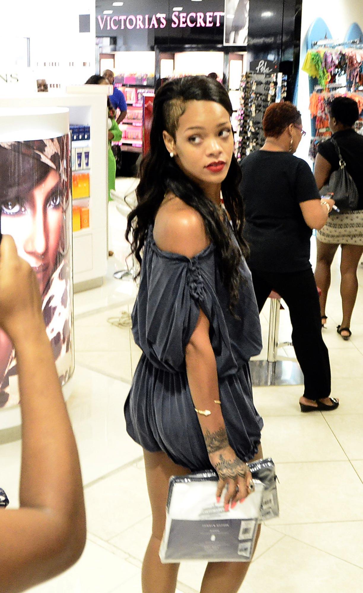 Rihanna Street Style  Shopping in Barbados