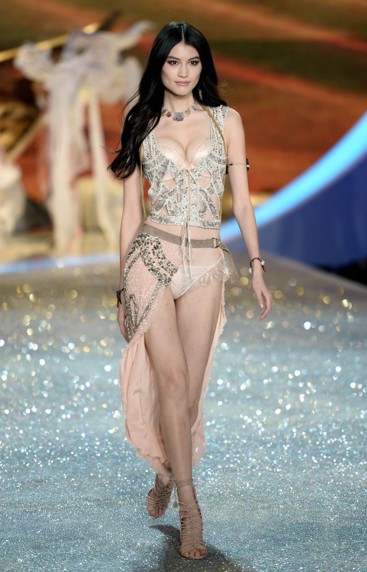 Sui He Walks the Runaway at Victorias Secret Fashion Show in New York City  November 2013