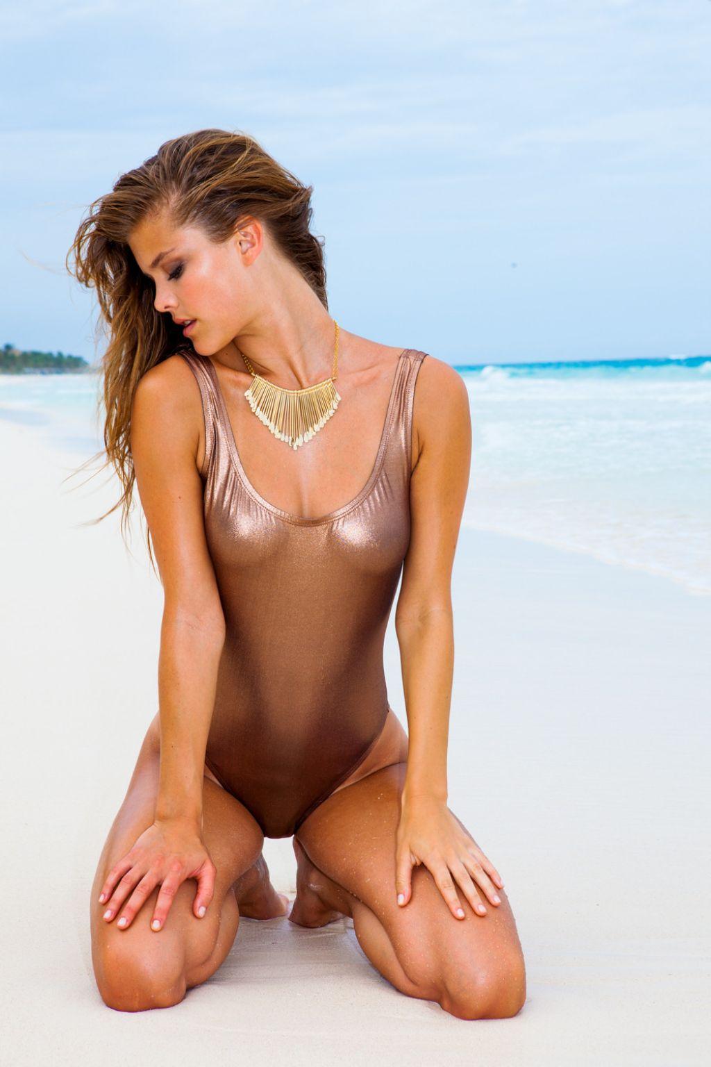 Petite Skimpy Girls Wallpapers Nina Agdal In A Bikini Sauvage Swimwear 2014 19 High