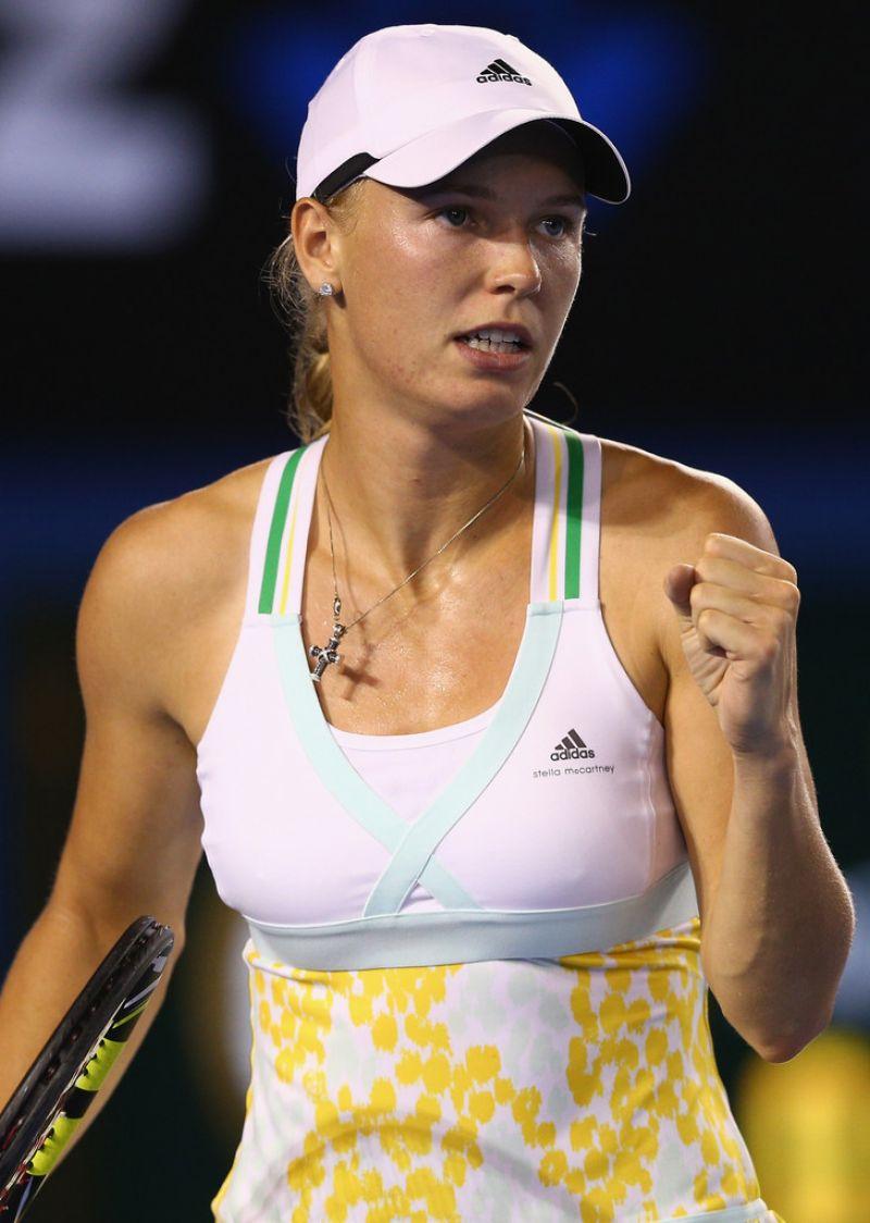 Caroline Wozniacki  Australian Open in Melbourne January 16 2014