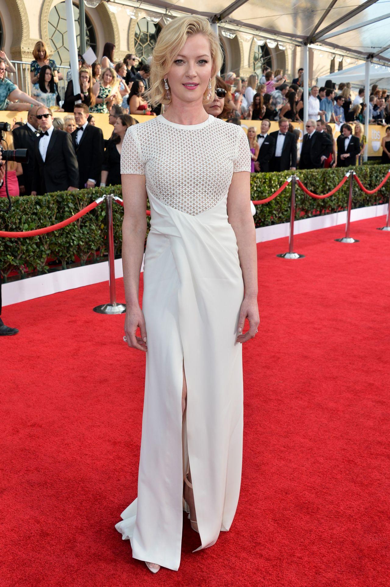 Gretchen Mol Wears J Mendel Gown at 2014 SAG Awards