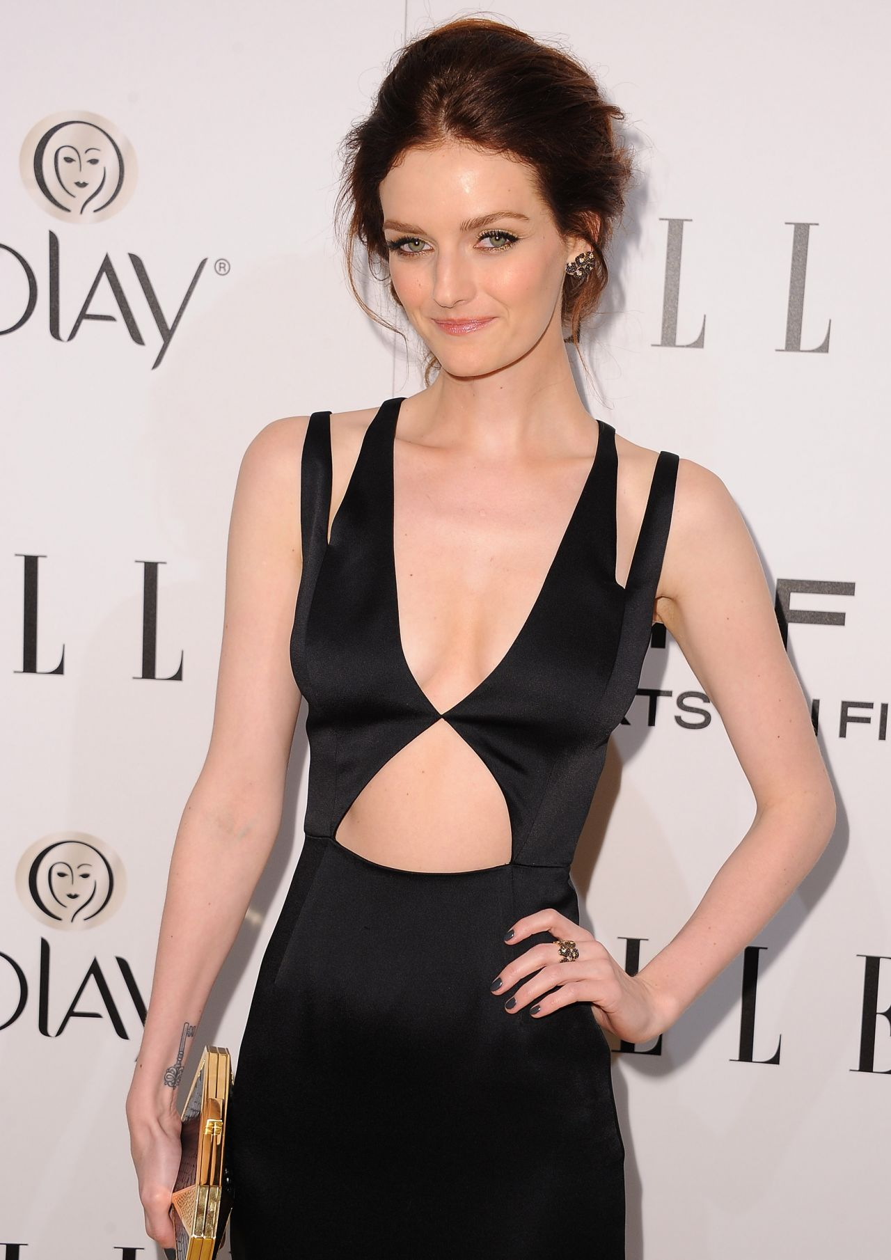 Lydia Hearst Wears Cushnie et Ochs at ELLEs Annual Women