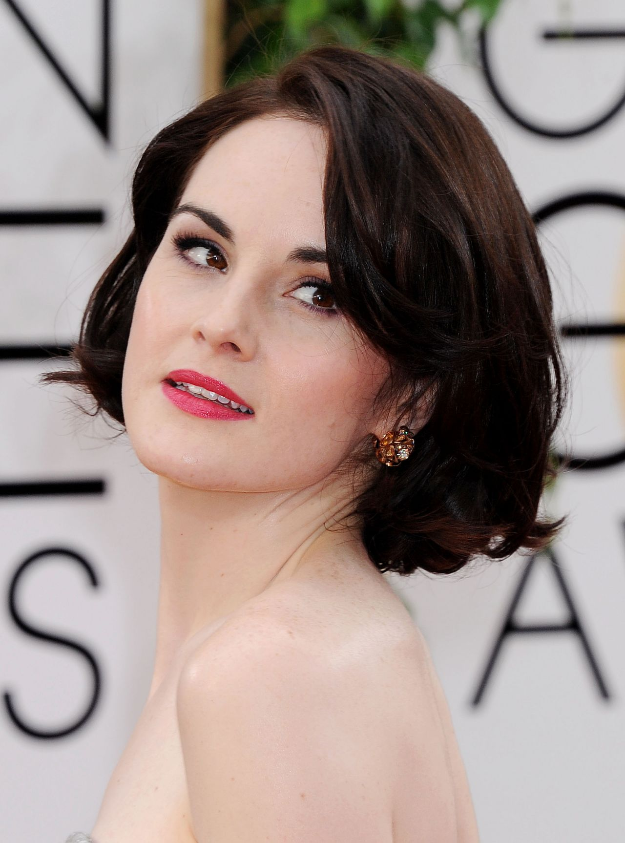 Michelle Dockery Wears Oscar de la Renta at 2014 Golden