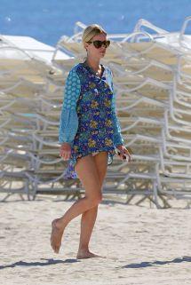 Nicky Hilton Beach Style - South Florida January 2014