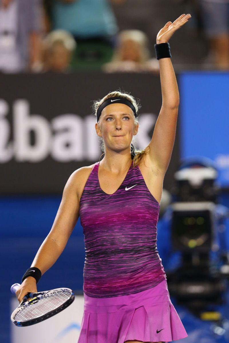 Victoria Azarenka  Australian Open in Melbourne January 16 2014