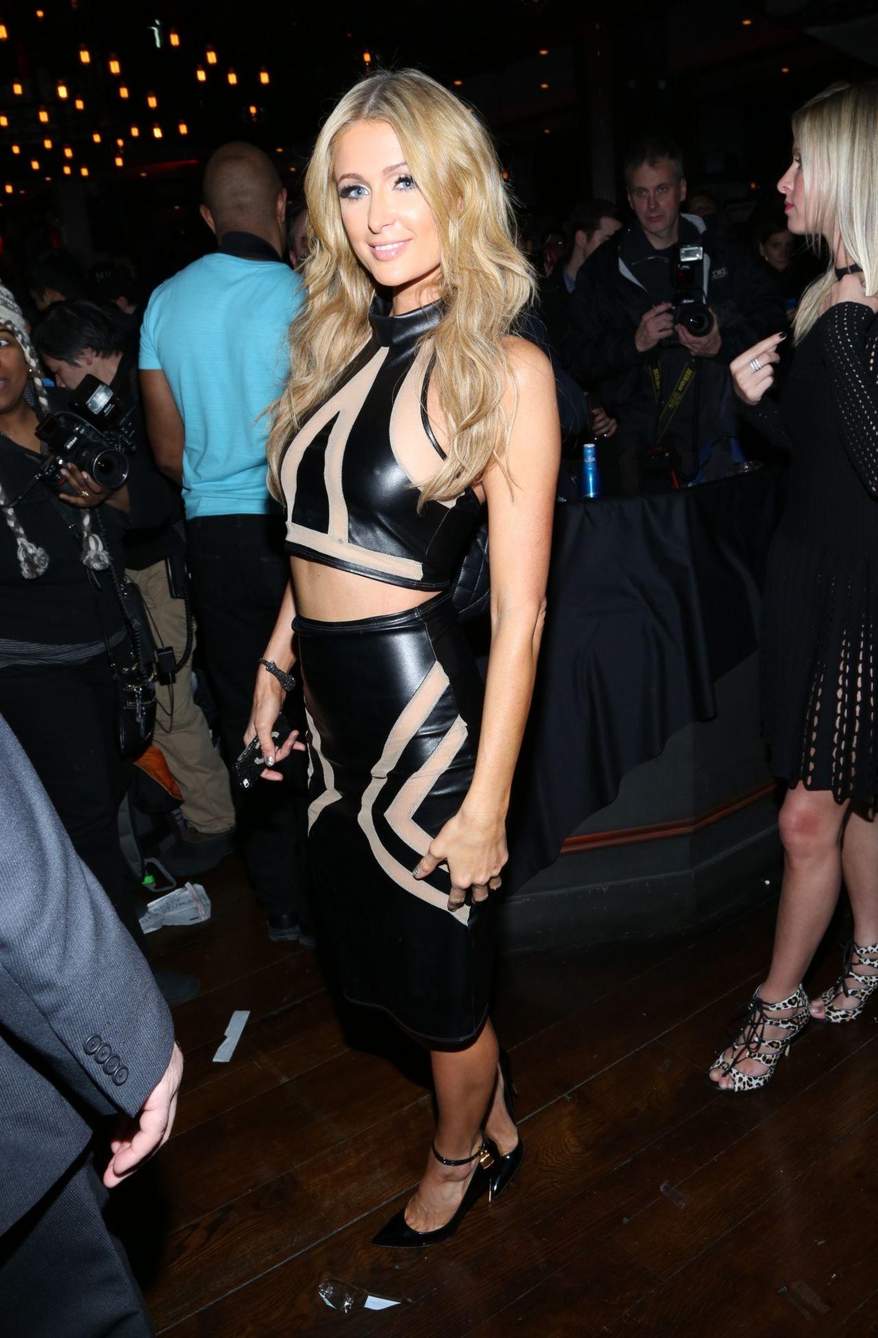 Paris Hilton 2014 Leather  Laces Party