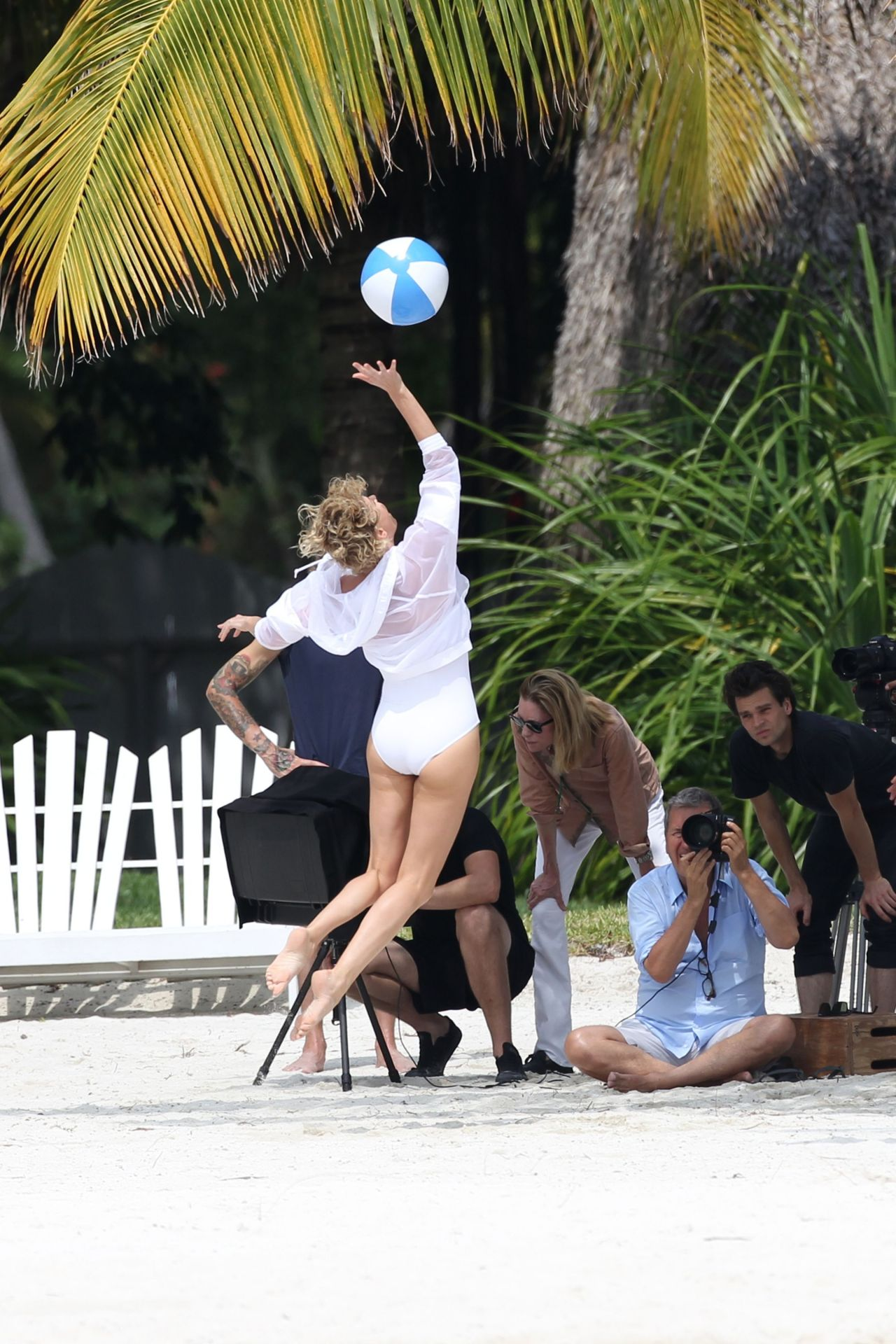 Charlize Theron  Swimsuit Photoshoot in Miami  March 2014