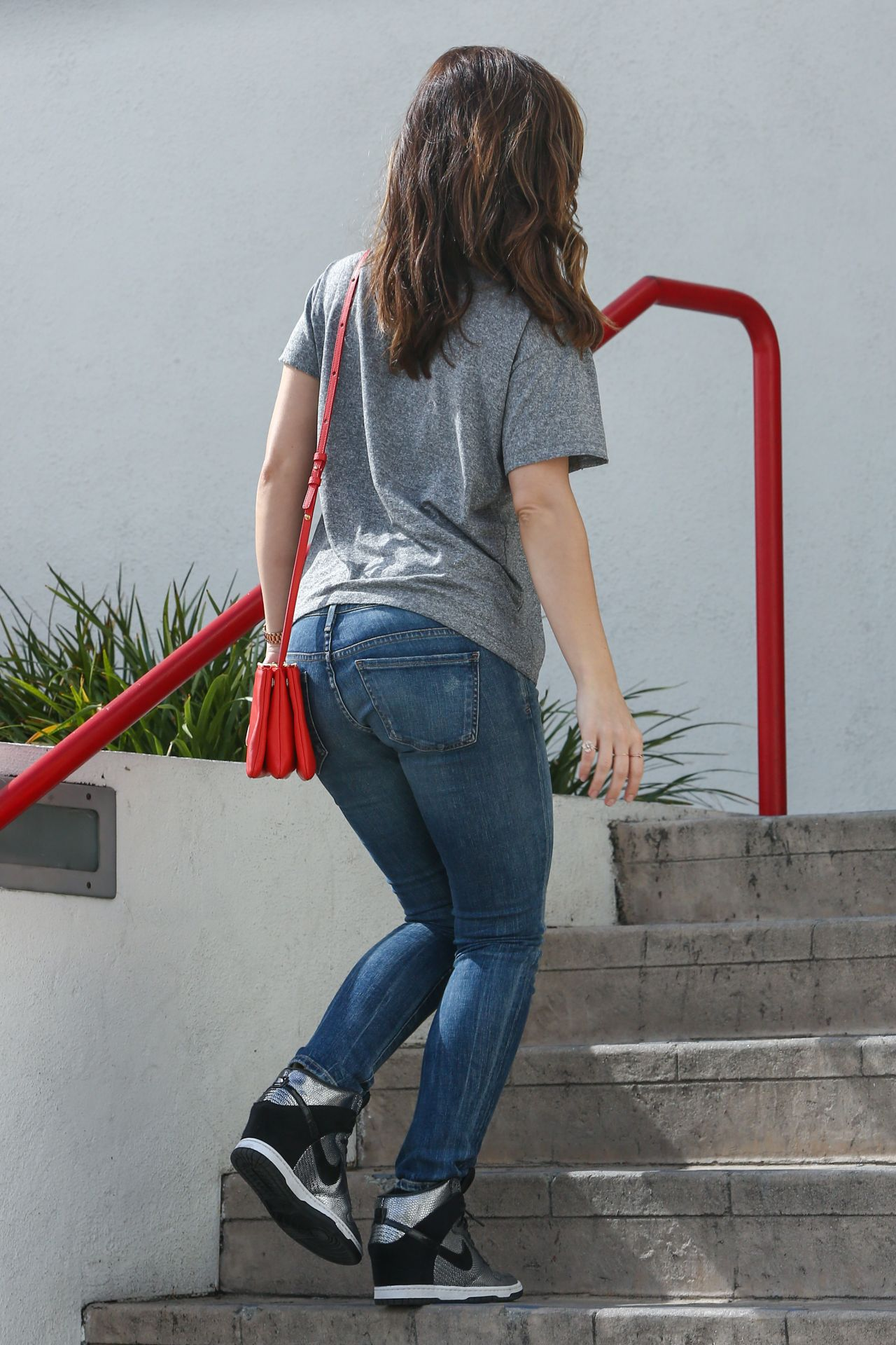 Minka Kelly in Jeans Out in Los Angeles