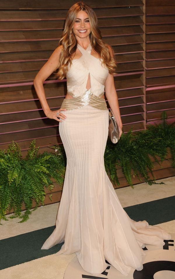 781b65e5f71a6 Sofia Vergara Wearing Roberto Cavalli Gown - 2014 Vanity