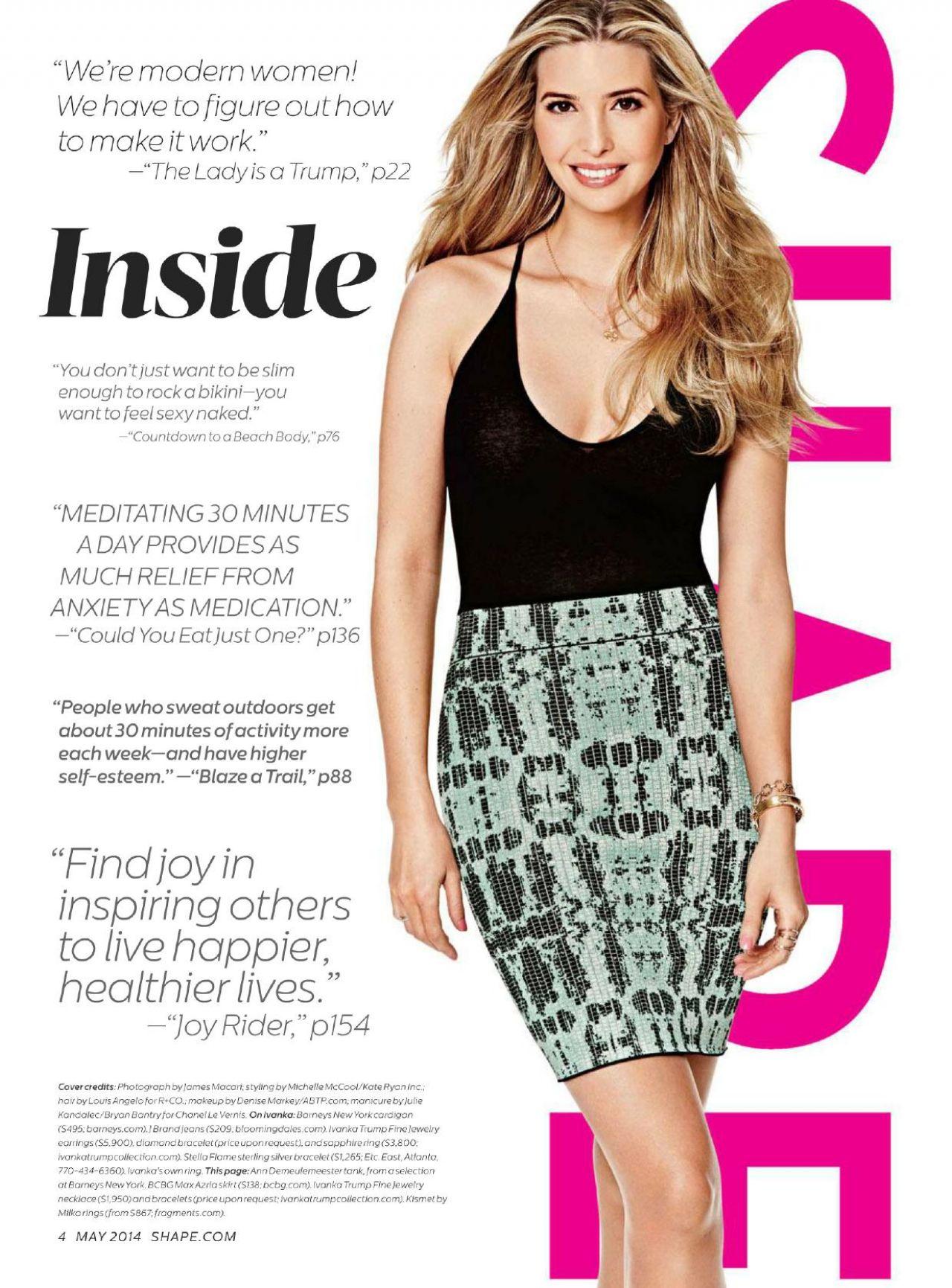 Ivanka Trump  Shape Magazine USA May 2014 Issue