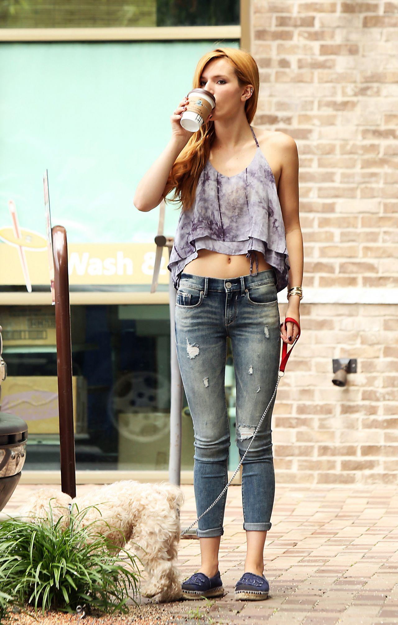Bella Thorne in Jeans  Out in Los Feliz July 2014