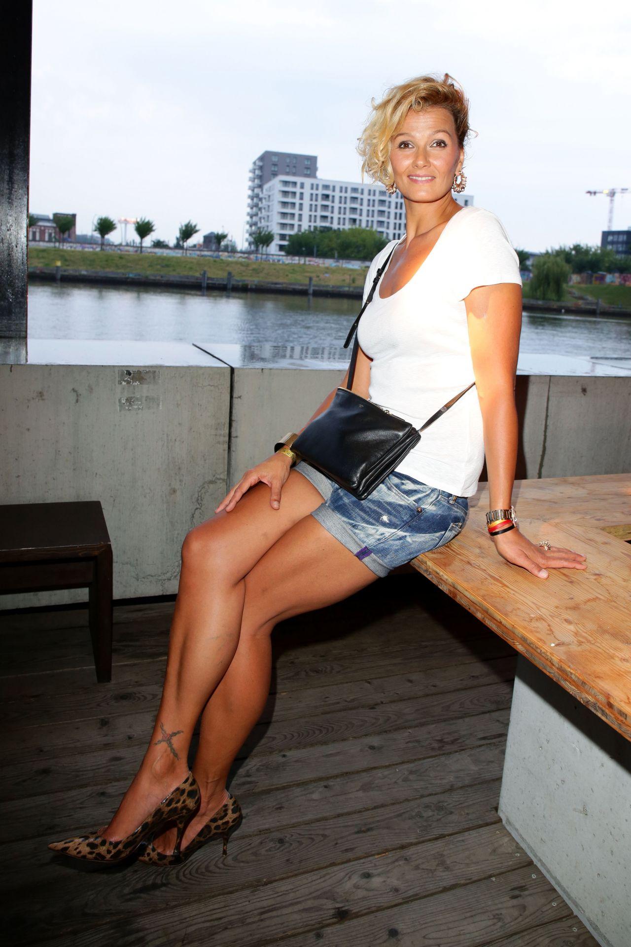 Franziska van Almsick  MercedesBenz Fashion Week in Berlin  July 2014