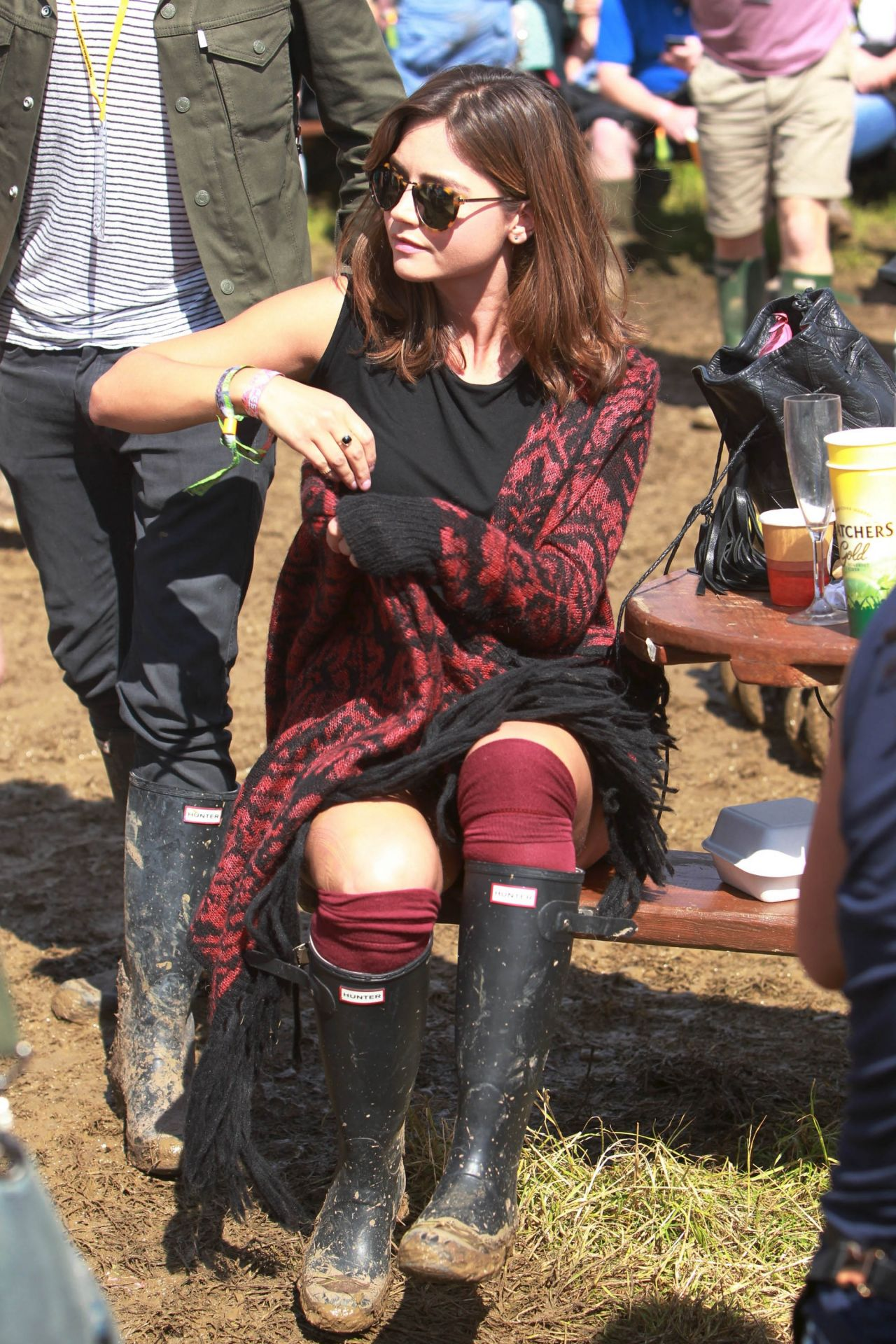 Jenna Louise Coleman  Glastonbury Festival in Glastonbury England  June 2014
