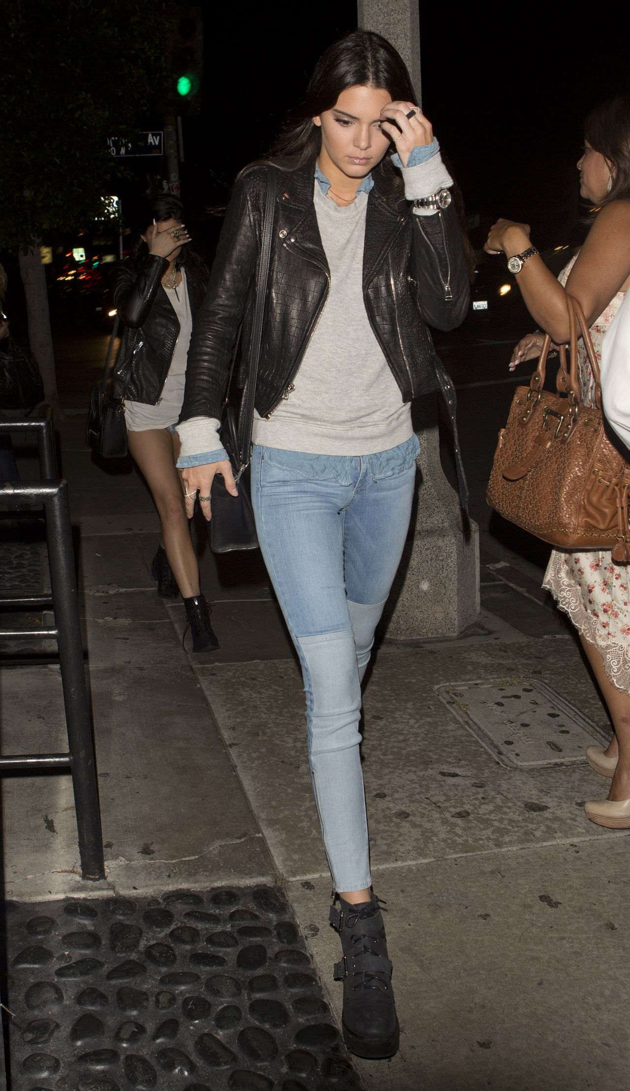 Kendall Jenner Night Out Style  STK Restaurant in West