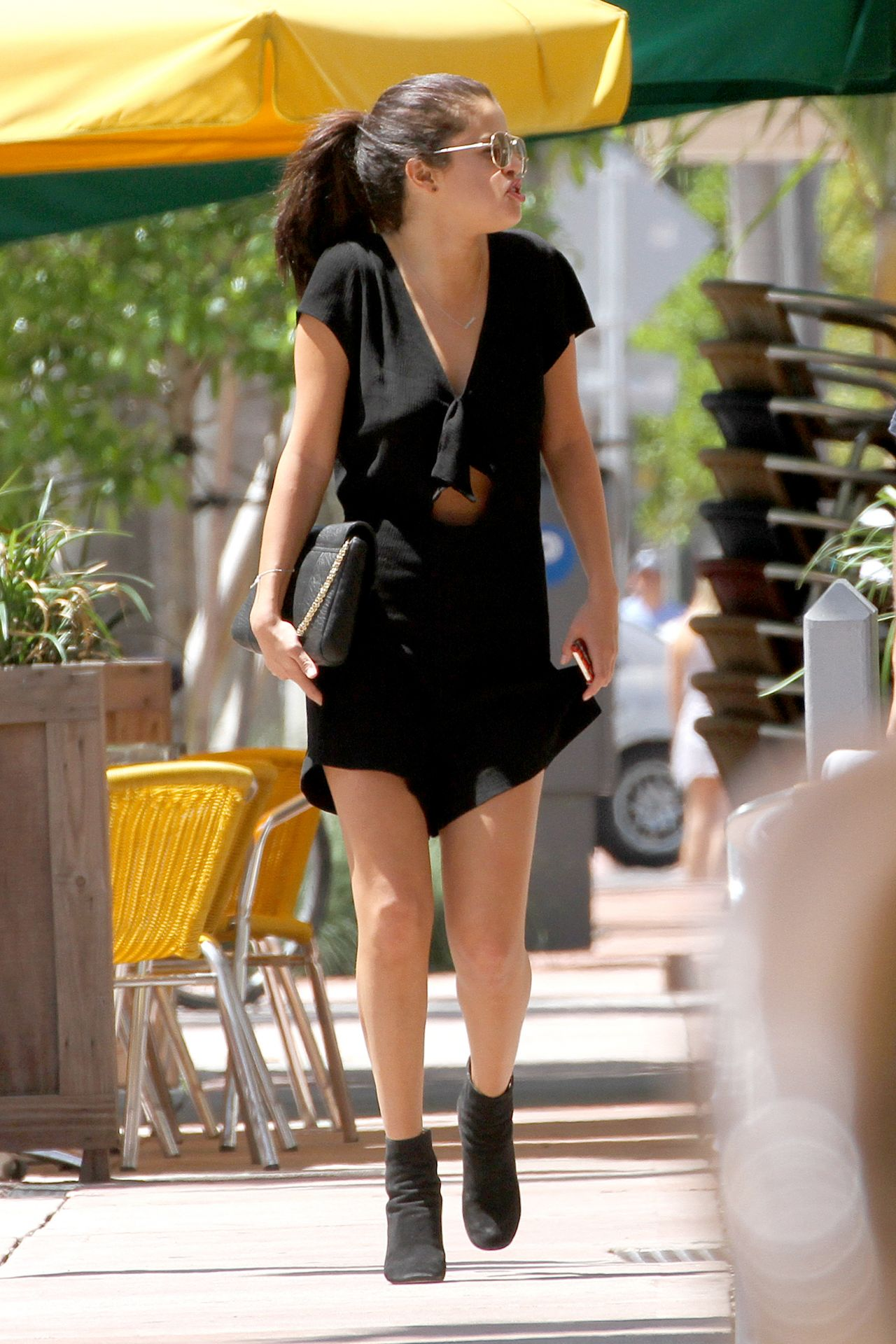 Selena Gomez Takes Her Legs Out in Miami  July 2014
