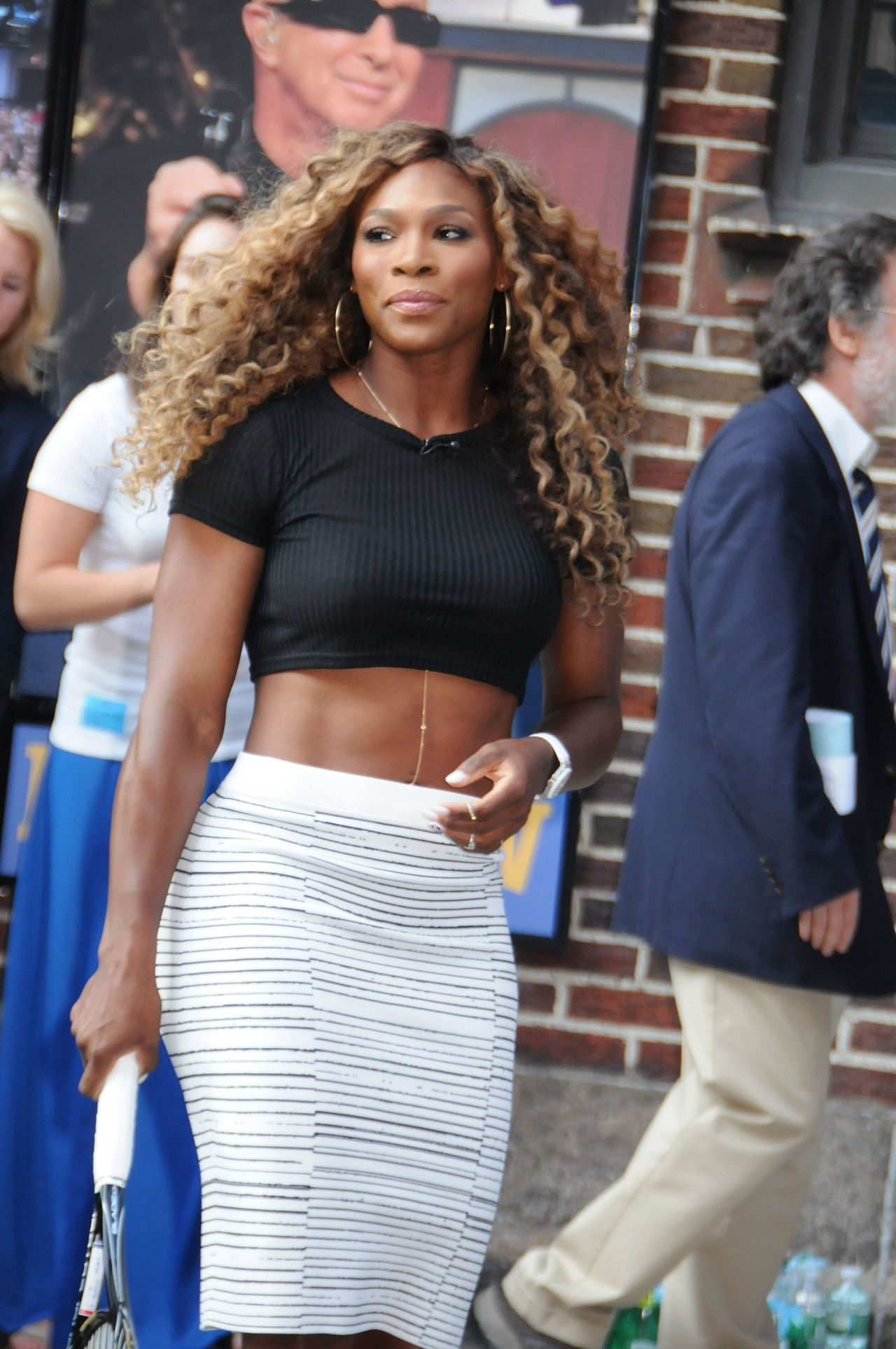 Serena Williams Arriving at Late Show With David Letterman in NYC August 2014