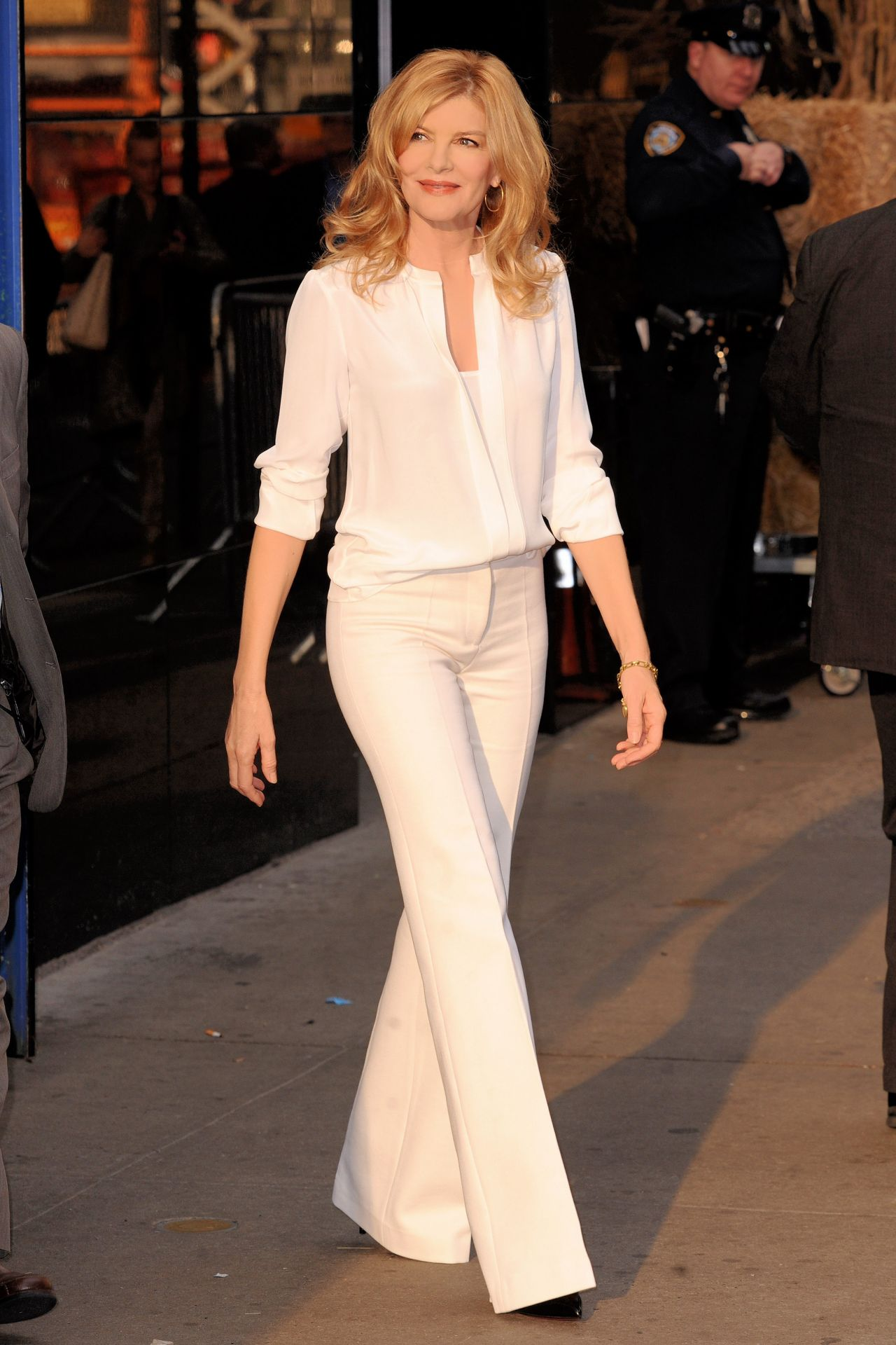 Rene Russo Arriving to Appear on Good Morning America in New York City  October 2014