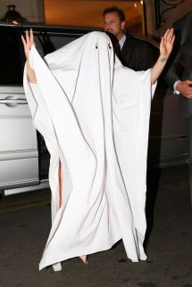 Lady Gaga In Ghostly Costume - Halloween 2014 Paris