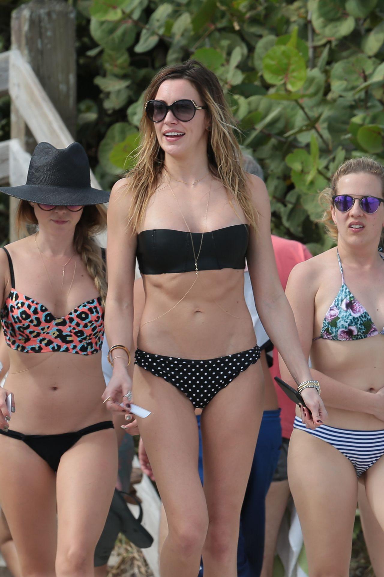 Katie Cassidy in Bikini at a Beach in Miami • CelebMafia