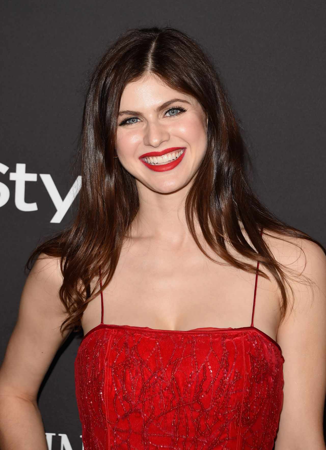 Alexandra Daddario InStyle And Warner Bros 2015 Golden
