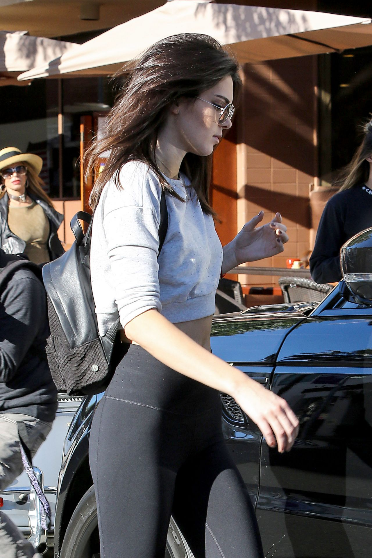 Kendall Jenner Booty in Tights  Out in Beverly Hills