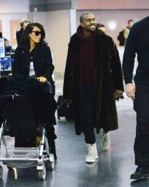 Kim Kardashian With Kanye West In York - February 2015