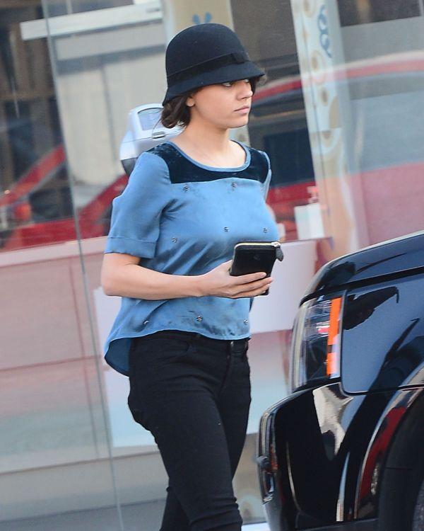 Mila Kunis Street Style - Leaving Sweet Lady Jane Bakery In Los Angeles Feb. 2015
