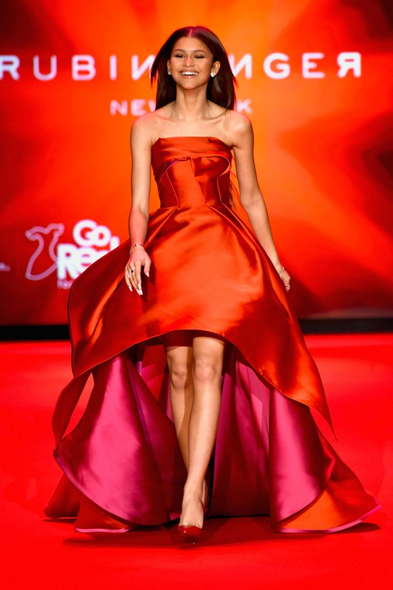 Zendaya Coleman Go Red For Women Red Dress Collection