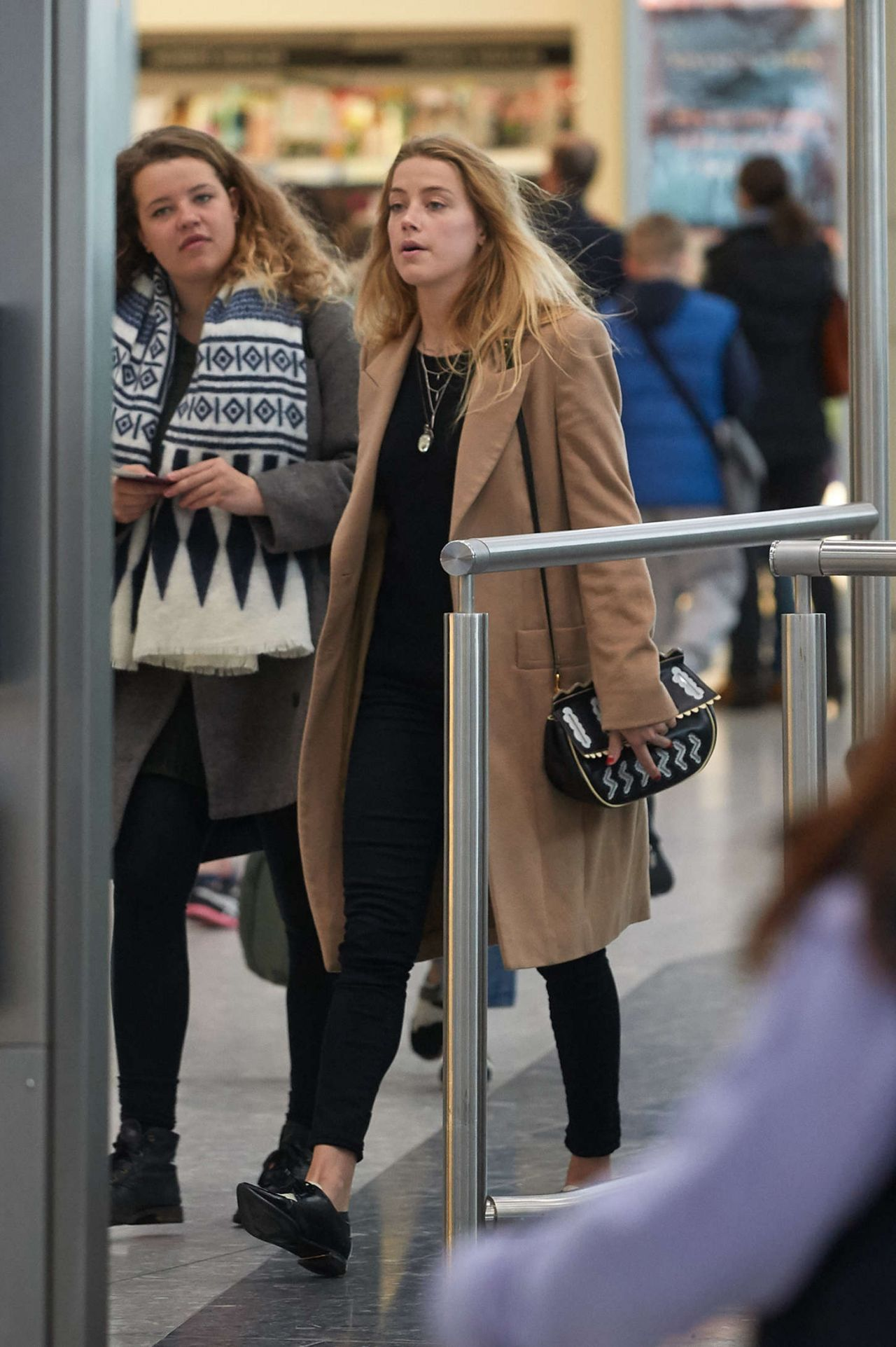 Amber Heard  Heathrow Airport in London  March 2015