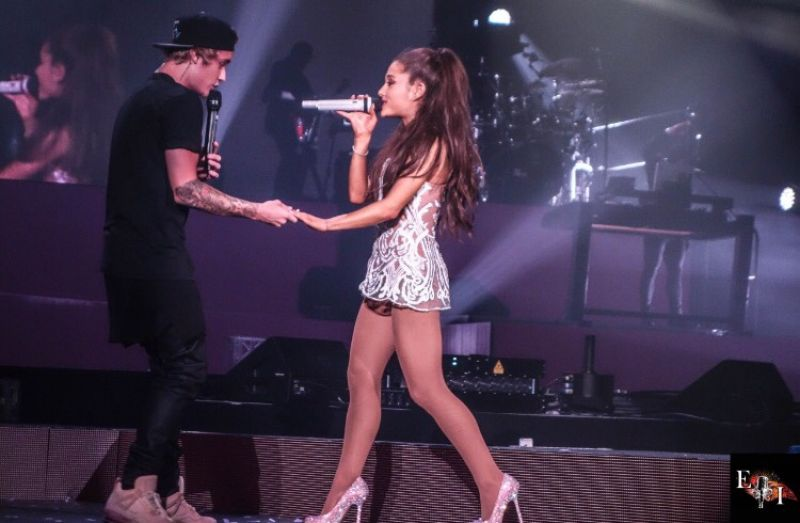 Ariana Grande Performs With Justin Bieber In Miami