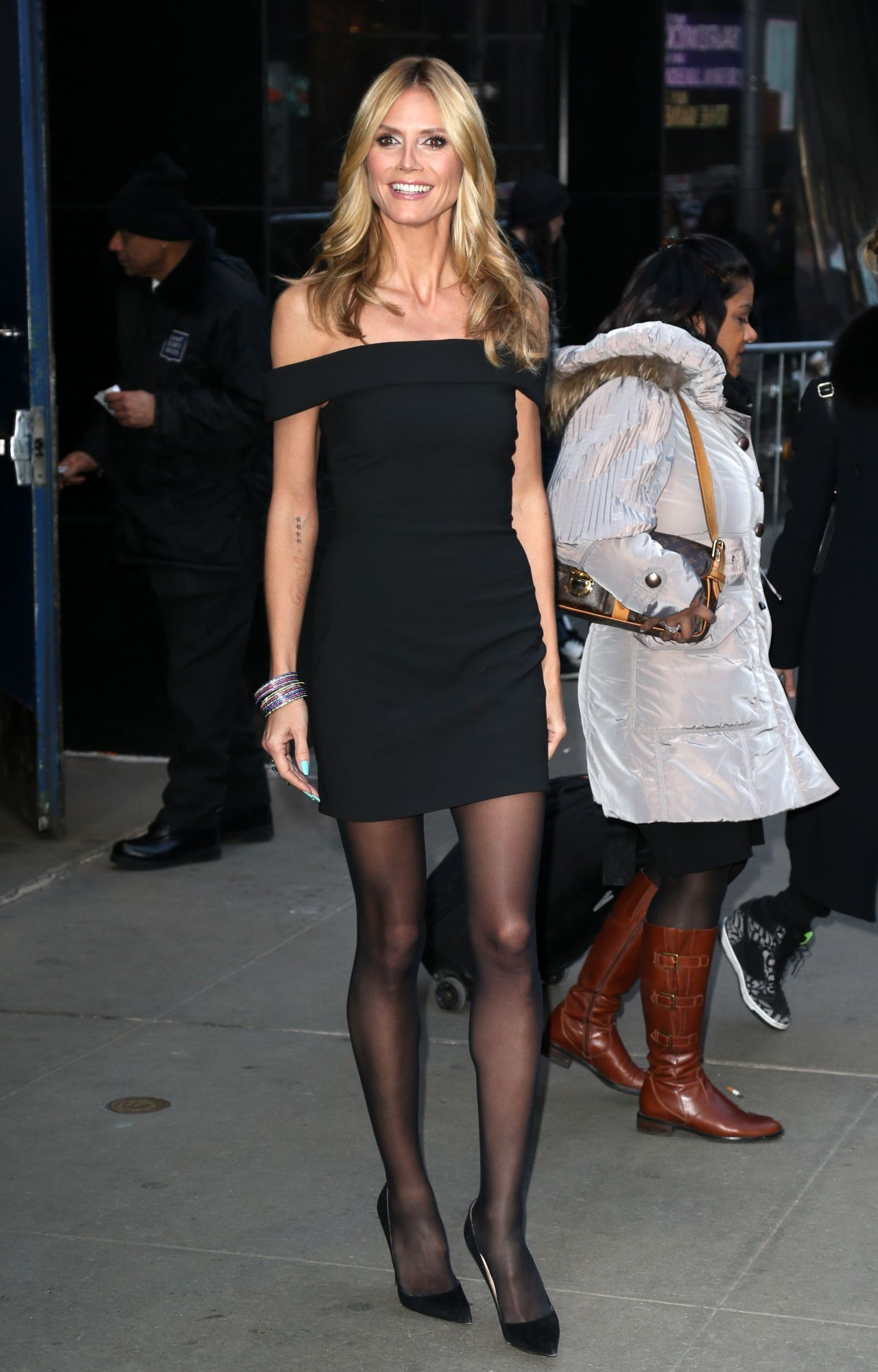 Heidi Klum Visits Good Morning America In New York