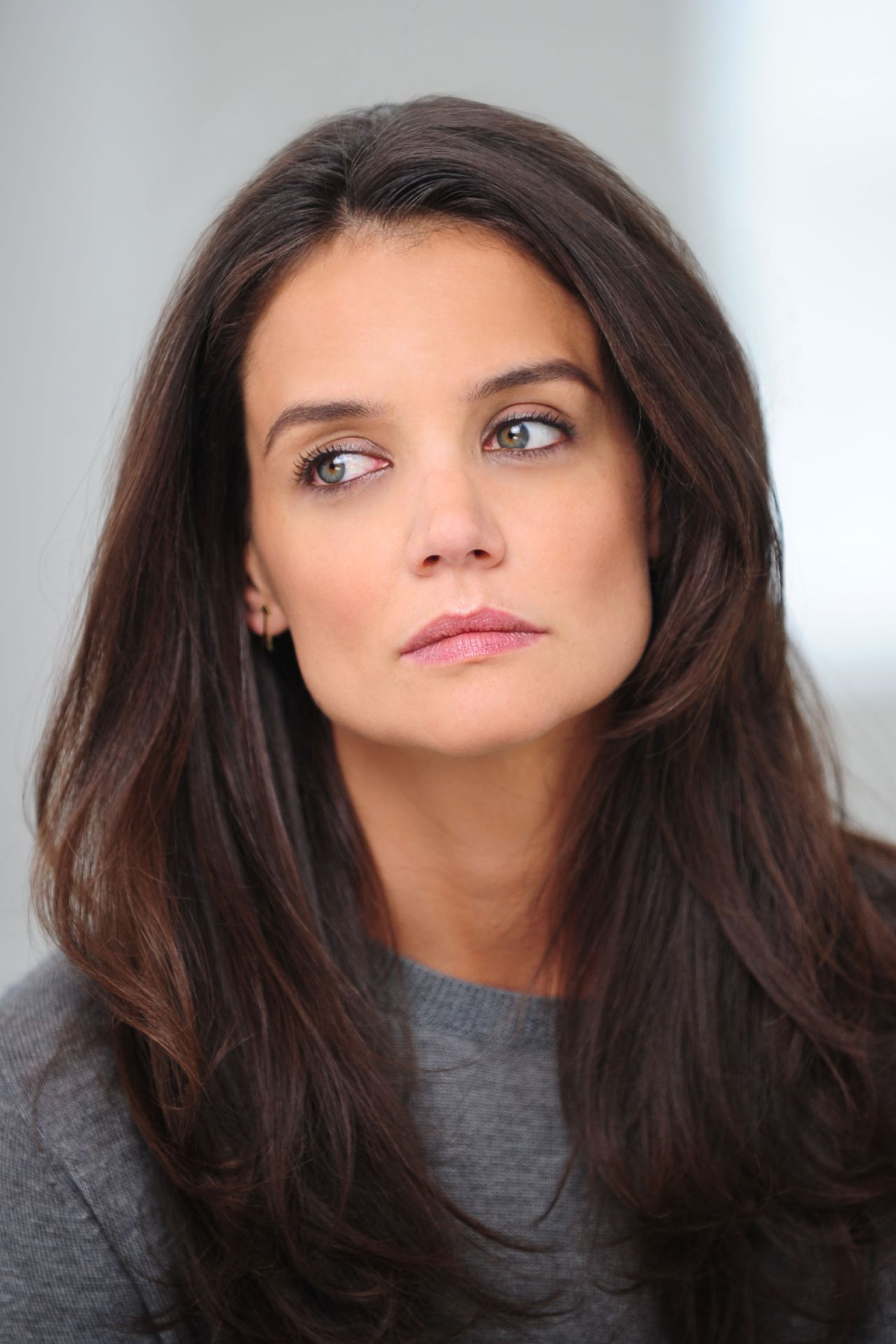 Katie Holmes  Shooting a Alterna Haircare Ad Campaign in Los Angeles March 2015