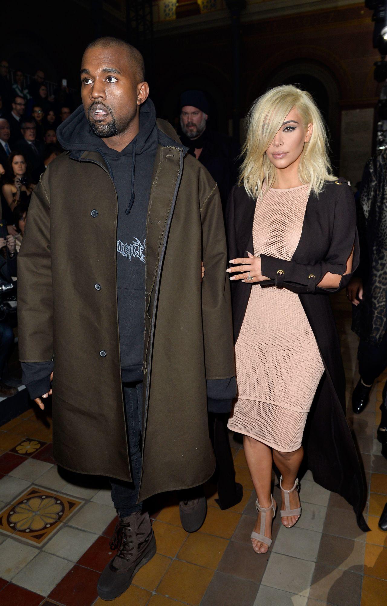 Kim Kardashian Is Blonde Now  Lanvin Fashion Show in