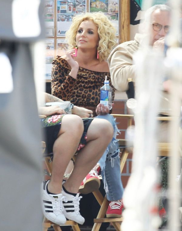 Britney Spears - Films Music Video 'pretty Girls' In Studio City April 2015