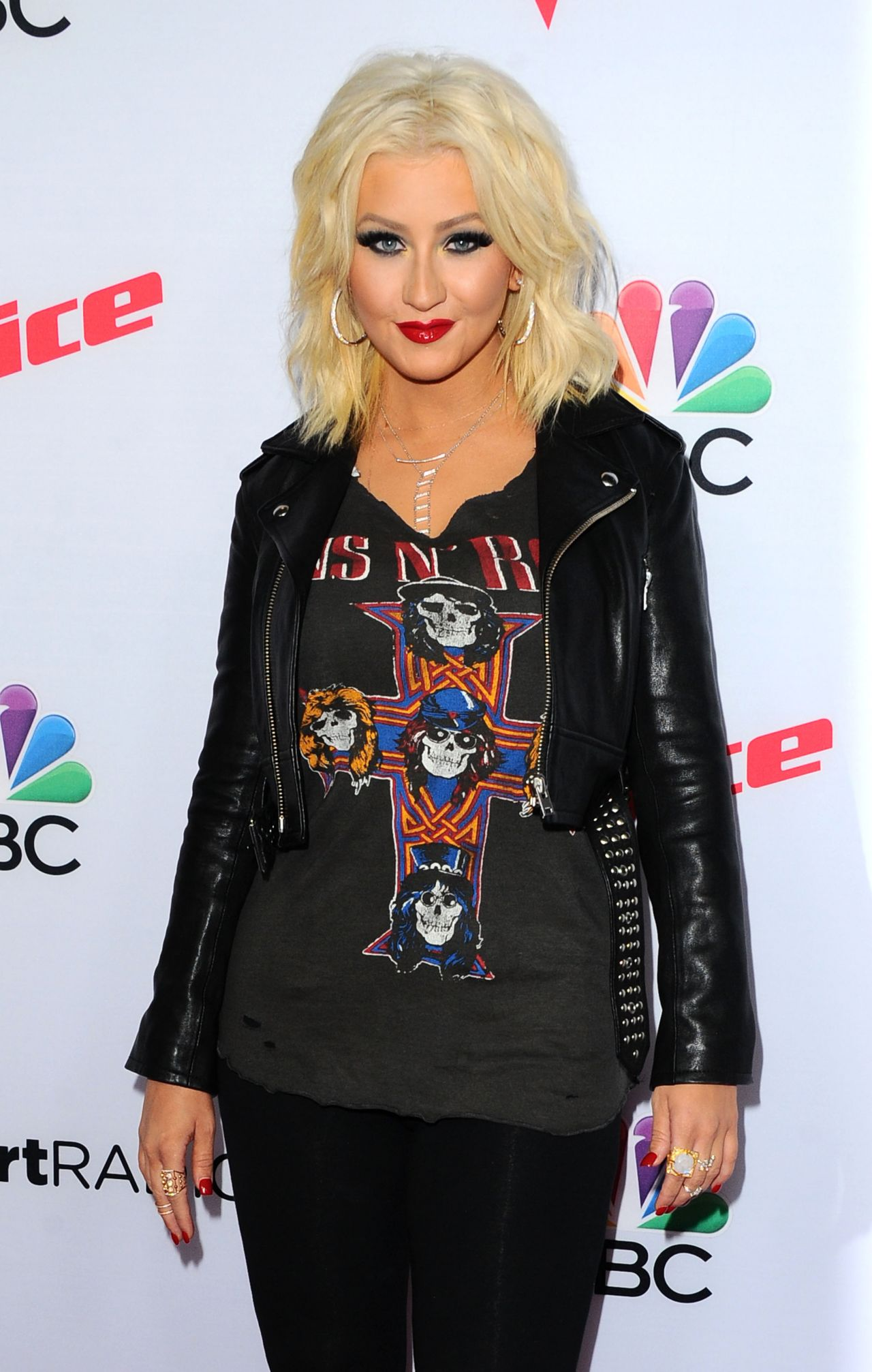 Christina Aguilera  Arrives for NBCs The Voice Season 8 Red Carpet Event in West Hollywood